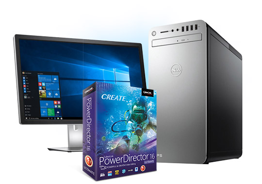 DELL Desktop Computer XPS8920 with Intel® Core™ i7 and Cyberlink PowerDirector 16