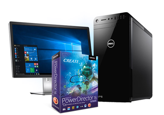 DELL XPS 8920 Tower with Intel® Optane™ Memory and Cyberlink PowerDirector 16