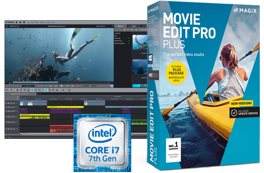 Create an amazing video from your footage with MAGIX Movie Edit Pro Plus
